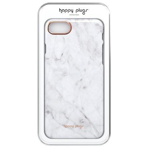 цена на Чехол Happy Plugs 9140 + защитная пленка для Apple iPhone 7/iPhone 8 white marble