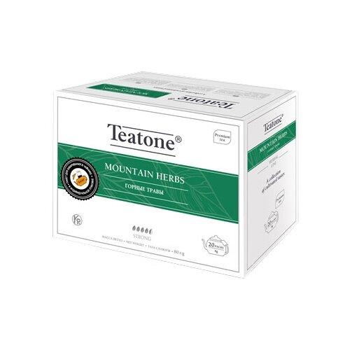 Чайный напиток травяной Teatone Mountain herbs в пакетиках для чайника, 20 шт.