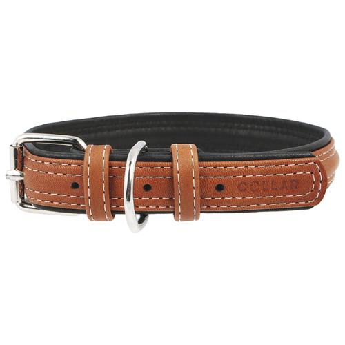 Ошейник COLLAR Soft 7202/7203 38-49 см коричневый верх