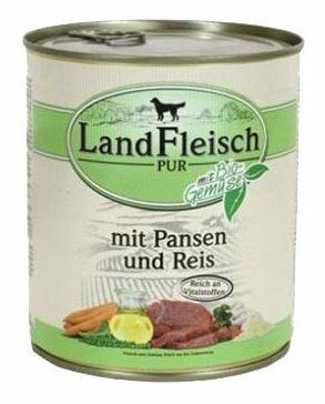 Корм для собак Dr. Alder`s ЛАНДФЛЯЙШ Деревенское мясо рубец + рис + овощи рубленое мясо Для взрослых собак