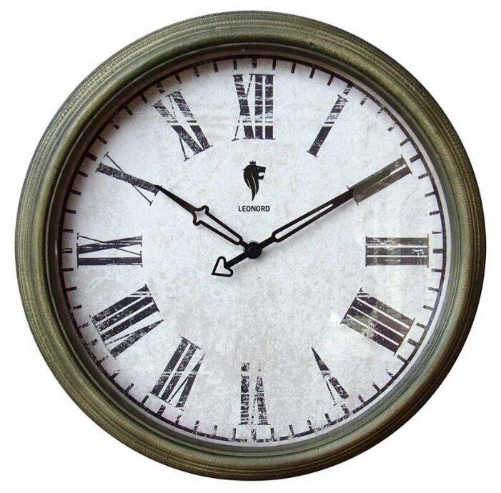 Часы настенные кварцевые LEONORD LC-08 темно-серый