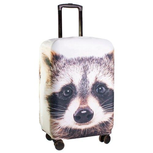 Чехол для чемодана PROFFI Travel Енот M, ПринтЧемоданы<br>
