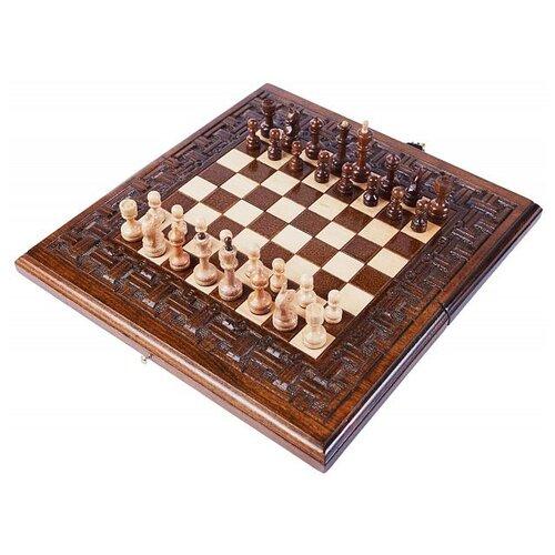 цена на Haleyan Шахматы + нарды резные Армянский Орнамент 30