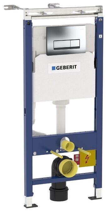 Система инсталляции для унитазов Geberit Duofix Платтенбау 458.125.21.1 4 в 1 с кнопкой смыва