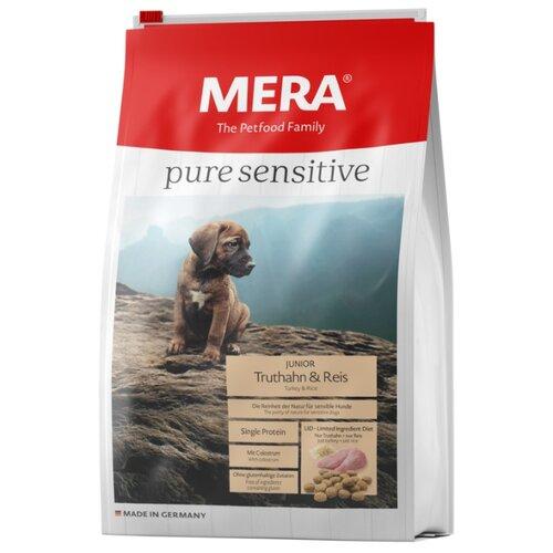 Корм для собак Mera (4 кг) Pure Sensitive Junior с индейкой и рисом для щенков корм для собак mera 1 кг pure sensitive junior с индейкой и рисом для щенков