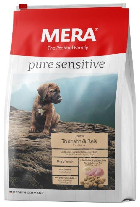 Корм для собак Mera Pure Sensitive Junior с индейкой и рисом для щенков