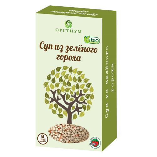 Оргтиум Суп из зеленого гороха (8 порций) 180 гСмеси для супов и гарниров<br>