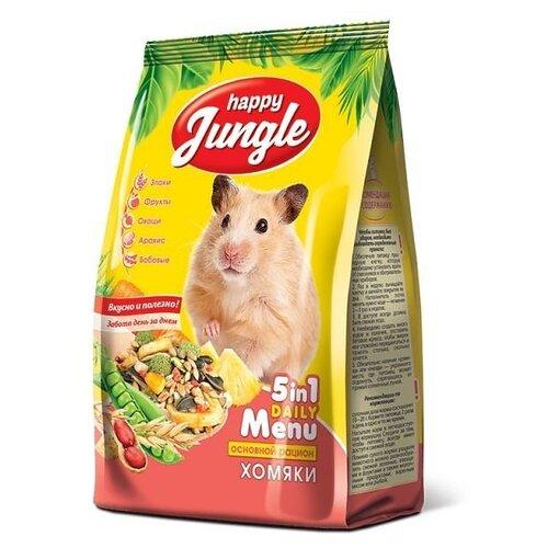 Корм для хомяков Happy Jungle 5 in 1 Daily Menu Основной рацион 400 г