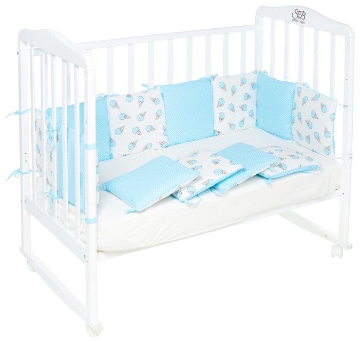 Бортики для кроватки SWEET BABY Gelato Blu, 12 частей, голубой