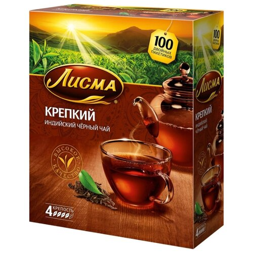Чай черный Лисма Крепкий в пакетиках, 100 шт.