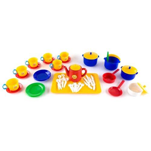 Набор посуды Пластмастер Шеф повар 21010 разноцветный песочный набор пластмастер зверюшки 70017