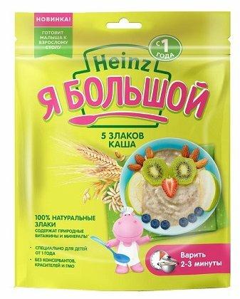 Каша Heinz безмолочная Я большой 5 злаков (с 12 месяцев) 250 г