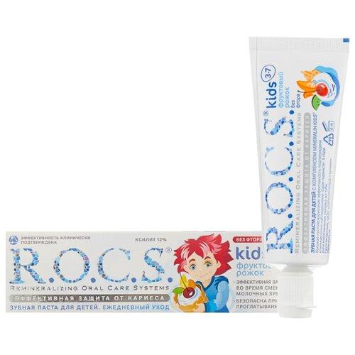 Купить Зубная паста R.O.C.S. Kids Фруктовый рожок 3-7 лет, 35 мл, Гигиена полости рта