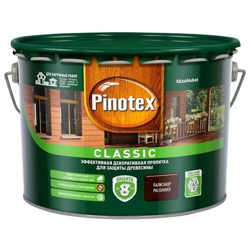 Фото - Водозащитная пропитка Pinotex Classic палисандр 9 л водозащитная пропитка pinotex classic светлый дуб 1 л