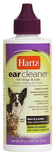 Лосьон Hartz для очищения ушей для кошек