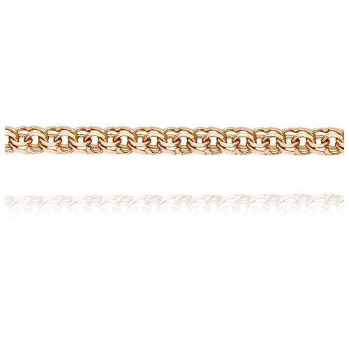 АДАМАС Цепь из золота плетения Гарибальди ЦГРП250СА6-А51, 60 см, 10.56 г