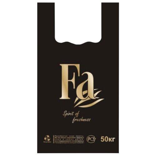 Пакет-майка Юпласт Fa 30(+16)х55 см, 25 мкм черный 100 шт.