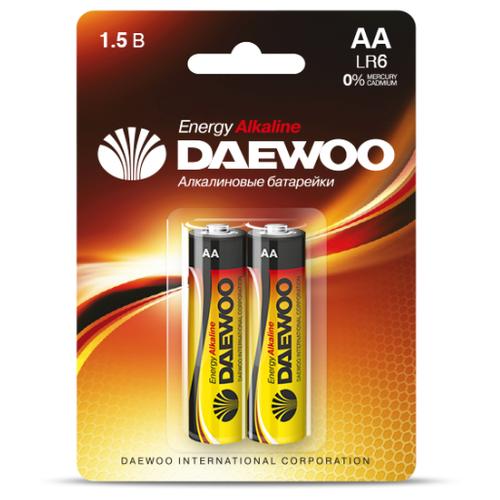 Фото - Батарейка Daewoo ENERGY LR6 AA BL2 Alkaline 1.5V - 2 шт. батарейка aa щелочная perfeo lr6 10bl super alkaline 10 шт
