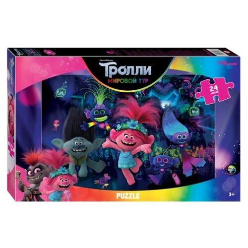 Пазл Step puzzle Пазл DreamWorks Maxi Trolls 2 Techno Life (90068), 24 дет. пазл step puzzle maxi даша путешественница 90050 24 дет