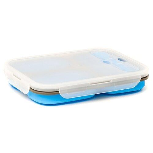 GIPFEL Ланч-бокс Ramira 0270 синий/белый набор контейнеров для хранения пищевых продуктов gipfel ramira 4 предмета