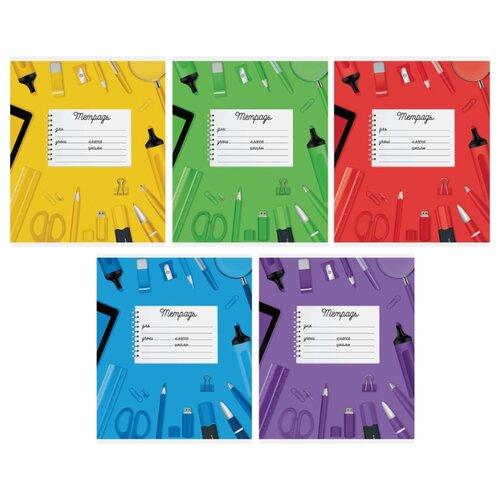 Купить ArtSpace Упаковка тетрадей Микс. Школьная коллекция-5, Т18к_17811, 20 шт./5 дизайнов, клетка, 18 л., Тетради