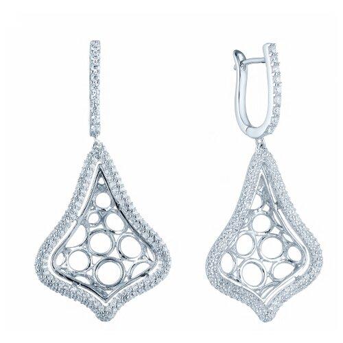 ELEMENT47 Серьги из серебра 925 пробы с фианитами DM0026E_SR_001_WG