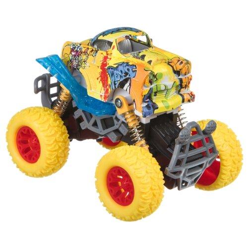 Купить Монстр-трак BONDIBON Парк техники (ВВ4570) желтый, Машинки и техника