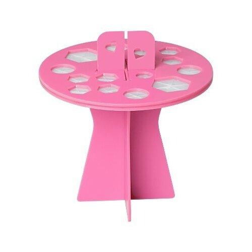 Купить Подставка Irisk Professional для сушки кистей 16 ячеек розовый