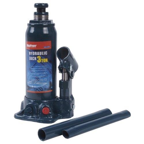 Домкрат бутылочный гидравлический MegaPower M-90304S (3 т) синий домкрат бутылочный гидравлический megapower m 90504s 5 т синий