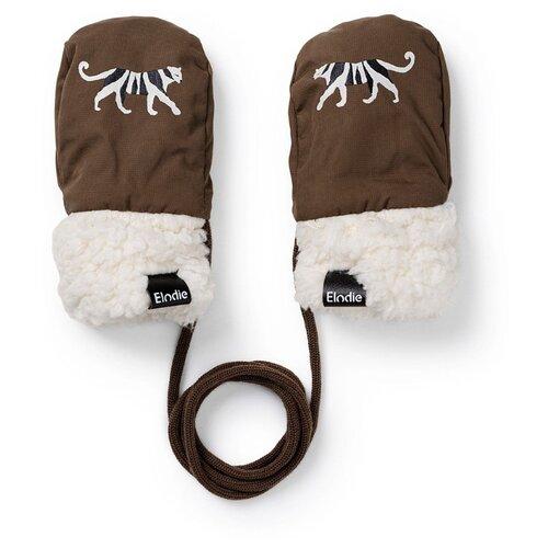 Рукавицы White Tiger 50620127644EC Elodie, коричневый/белый, размер 0-12 мес
