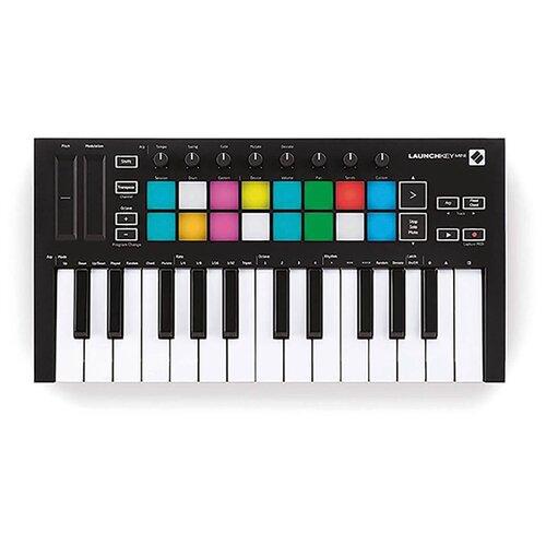 MIDI-клавиатура Novation Launchkey Mini MK3 черный midi контроллер novation launchpad mk ii
