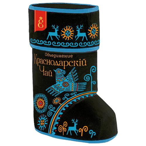 Чай черный Краснодарскiй ВЕКА Валенок Роспись северных народов подарочный набор , 70 г статуэтка бегемот фарфор роспись лфз ссср 70 80 е гг хх века