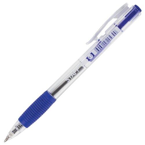 STAFF Ручка шариковая автоматическая с грипом BPR116, синий цвет чернил ручка корректор staff 7 мл