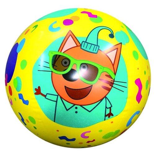 Фото - Мяч надувной 1 TOY Три Кота Т18116 желтый/зеленый тарелки три кота желтый 7 18см 6шт
