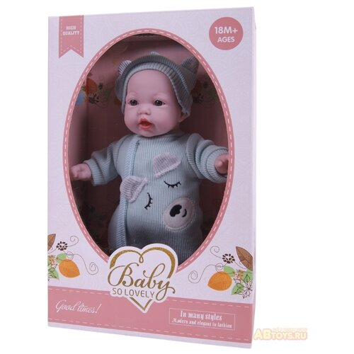 Кукла Junfa toys Baby so lovely, 28 см,1910-1 пупс junfa toys baby so lovely 1911 3