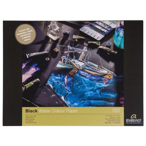Фото - Альбом для акварели Rembrandt 360г/м2 30*40см черная 10л склейка альбом для акварели royal talens rembrandt 32 х 24 см 300 г м² 20 л