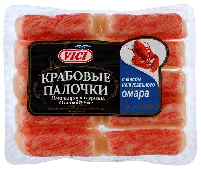Vici Крабовые палочки с мясом натурального омара