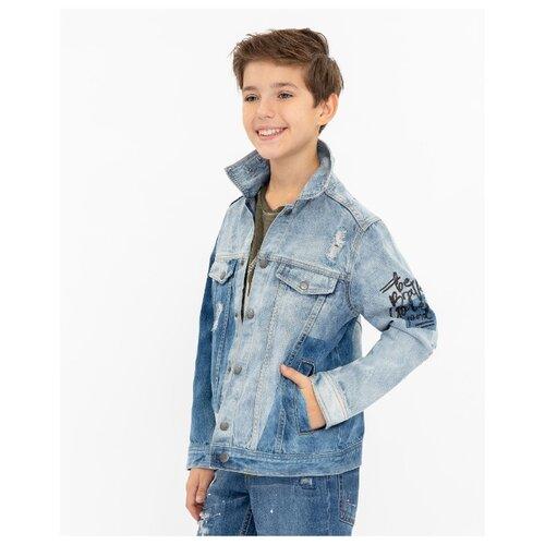 Купить Куртка Gulliver 12010BJC4201 размер 164, голубой, Куртки и пуховики