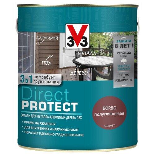 Эмаль алкидная (А) V33 Direct Protect 1138 бордо 2.5 л