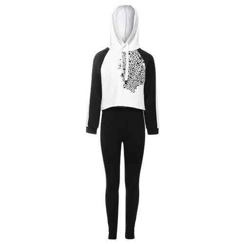 Спортивный костюм Nota Bene размер 158, черный/белый, Спортивные костюмы  - купить со скидкой