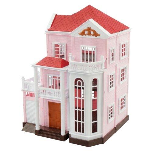 Игровой набор Happy Family Большой трехэтажный дом с гаражом со светом 1513
