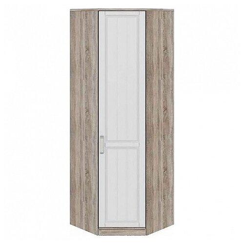 Шкаф для спальни ТриЯ Прованс СМ-223.07.026R, (ШхГхВ): 75.3х75.3х217.8 см, Дуб Сонома трюфель/Крем