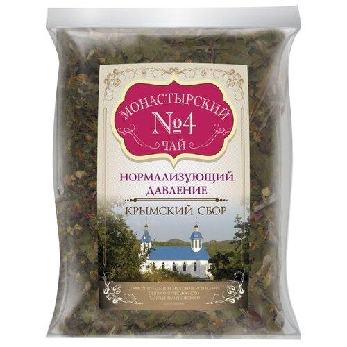Фото - Чай травяной Крымский чай Монастырский № 4 Нормализующий давление, 100 г чай травяной aroma монастырский 100 г