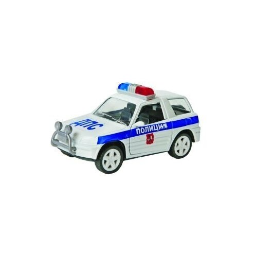 Купить Машинка Пламенный мотор 870357 9 см белый, Машинки и техника