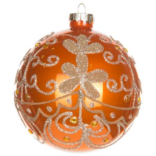 Набор шаров KARLSBACH 06781, оранжевый с золотым узором