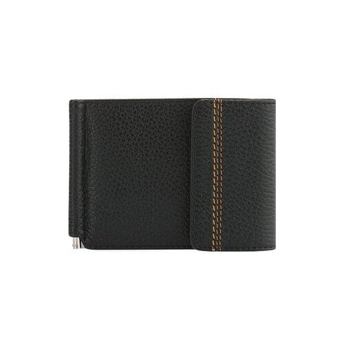 Бумажник FABULA Brooklyn Z.11.BR, натуральная кожа черный