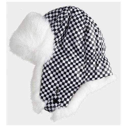 Купить Шапка-ушанка Gulliver размер 58, черный/белый, Головные уборы