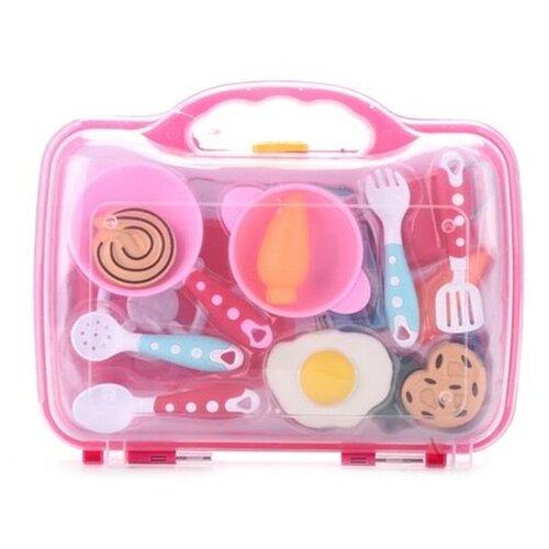 Набор продуктов с посудой Наша игрушка Y9970003 разноцветный