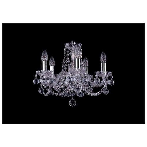 Люстра Bohemia Ivele Crystal 1402 1402/5/141/Ni/Balls, E14, 200 Вт bohemia ivele crystal 1402 5 141 g tube