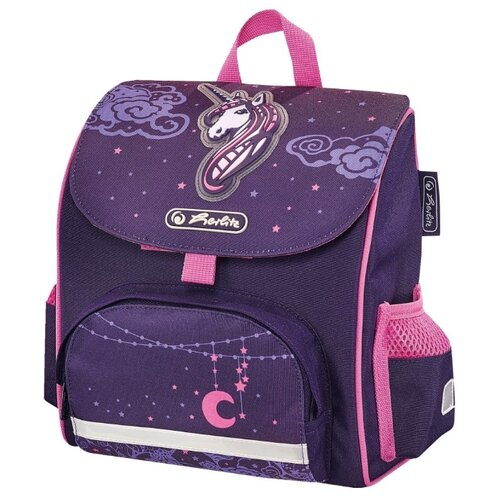 Herlitz Ранец Mini Softbag Unicorn Night, фиолетовый